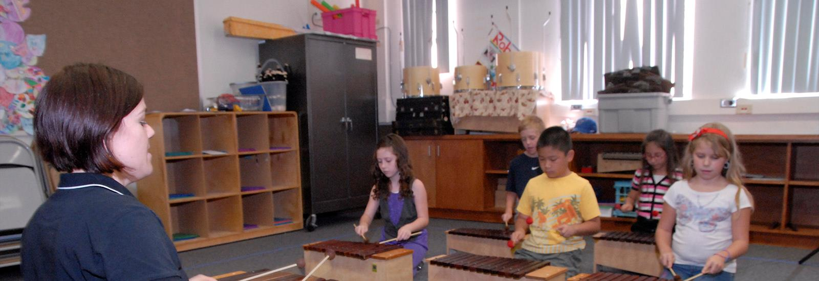 Music is part of every day at Hughes.